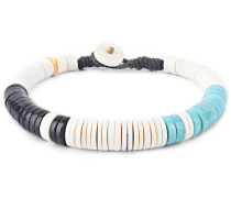 Turquoise, Jet and Shell Bracelet