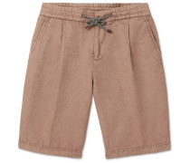 Linen And Cotton-blend Cargo Shorts