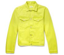Brandon Neon Denim Jacket - Yellow