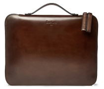 Nino Leather Briefcase - Brown