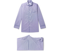 + Turnbull & Asser Piped Gingham Cotton Pyjama Set