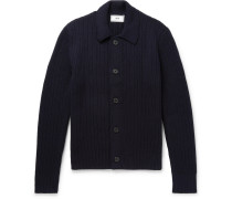 Merino Wool Cardigan - Navy