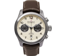 Alt1-classic/cr Automatic Chronograph 43mm Stainless Steel And Leather Watch - Cream