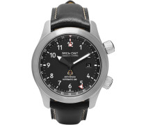 Mbiii/bzs Automatic 43mm Stainless Steel And Leather Watch - Black