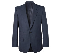 Eggsy's Navy Puppytooth Wool Suit Jacket