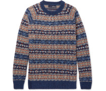 Fair Isle Wool-blend Sweater - Blue