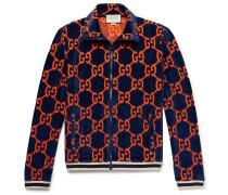 Cotton Devoré-velvet Track Jacket