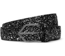 2.5cm Glittered Leather Belt
