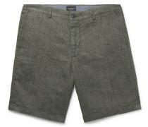Maddox Linen Shorts - Green