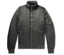 Nylon Hooded Down Bomber Jacket - Anthracite