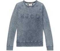 Samuel Distressed Logo-appliquéd Washed Loopback Cotton-jersey Sweatshirt