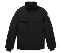 Forester Canvas-panelled Arctic Tech Down Jacket - Black
