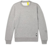 7 Moncler Fragment Logo-embroidered Mélange Loopback Cotton-jersey Sweatshirt - Gray