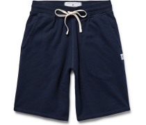 Loopback Cotton-jersey Drawstring Shorts - Midnight blue
