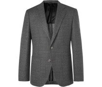 Grey Janson Basketweave Wool Blazer - Gray