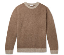 Slim-Fit Brushed Virgin Wool and Cashmere-Blend Sweater