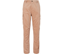 Cotton-corduroy Cargo Trousers - Beige