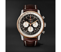 Navitimer 1 Chronograph 46mm Steel, Red Gold And Crocodile Watch