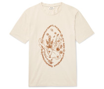 Bemabe Moose Embroidered Cotton-jersey T-shirt