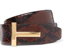 4cm Brown And Black Snake Belt
