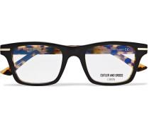 Square-frame Tortoiseshell Acetate Optical Glasses - Black