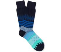 Yuzu Intarsia Cotton-blend Socks