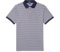 Slim-Fit Striped Cotton-Jersey Polo Shirt