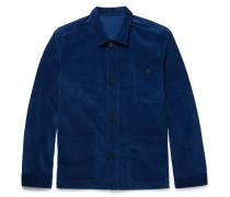 Cotton-corduroy Shirt Jacket - Indigo
