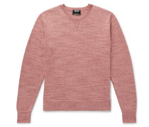 Space-dyed Cotton And Cashmere-blend Sweater - Pink