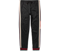 Striped Tech-jersey Sweatpants - Black
