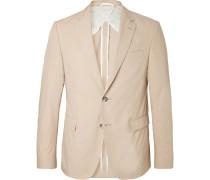 Beige Nobis Slim-fit Cotton-poplin Suit Jacket - Beige