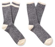 Ragg Two-Pack Striped Mélange Cotton Socks