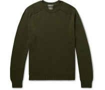 Cotton And Mulberry Silk-blend Sweater - Army green