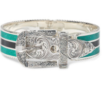 Garden Sterling Silver And Enamel Bracelet