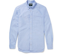 Button-down Collar Cotton Oxford Shirt - Blue