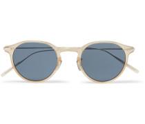 749 Round-frame Acetate And Titanium Sunglasses