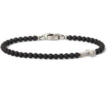 Onyx Sterling Silver Beaded Bracelet