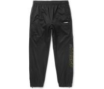 Tapered Logo-print Shell Sweatpants - Black