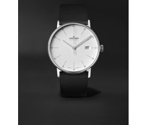 Form A 40mm Automatic Stainless Steel and Leather Watch