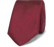 6cm Pin-dot Silk Tie - Burgundy