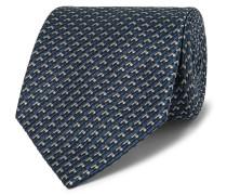 8cm Silk-jacquard Tie - Blue