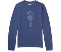 Printed Loopback Cotton-blend Jersey Sweatshirt