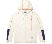 + Ader Error Oversized Colour-block Shell Hooded Jacket - Ecru