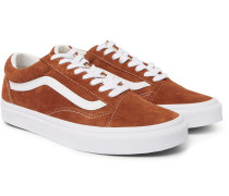 Old Skool Leather-trimmed Suede Sneakers