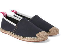 Jose Grosgrain And Leather-trimmed Canvas Espadrilles