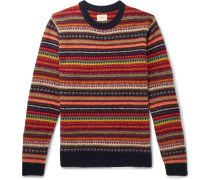 Aomy Fair Isle Wool Sweater