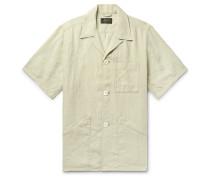 Camp-Collar Linen Shirt