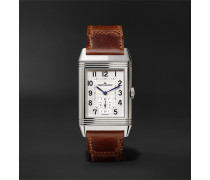 Reverso Classic Medium Hand-Wound 25.5mm Stainless Steel and Leather Watch
