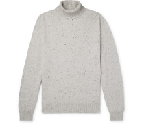 Donegal Wool, Silk and Cashmere-Blend Rollneck Sweater