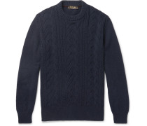 Cable-knit Baby Cashmere Sweater - Navy